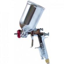 Окрасочный пистолет с боковым алюминевым регулируемым бачком